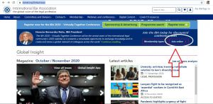 عضوية في نقابة المحامين الدولية